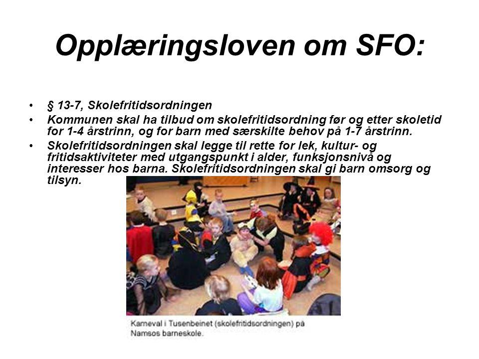 Opplæringsloven om SFO: