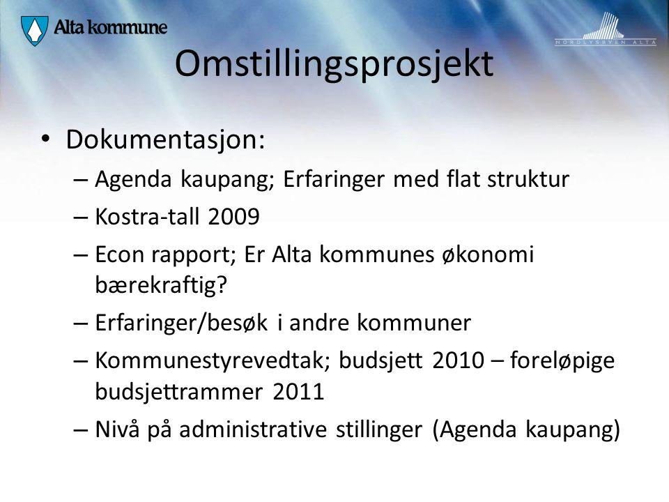 Omstillingsprosjekt Dokumentasjon: