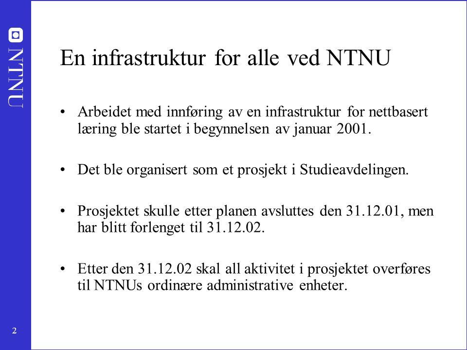 En infrastruktur for alle ved NTNU