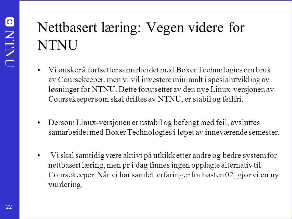Nettbasert læring: Vegen videre for NTNU