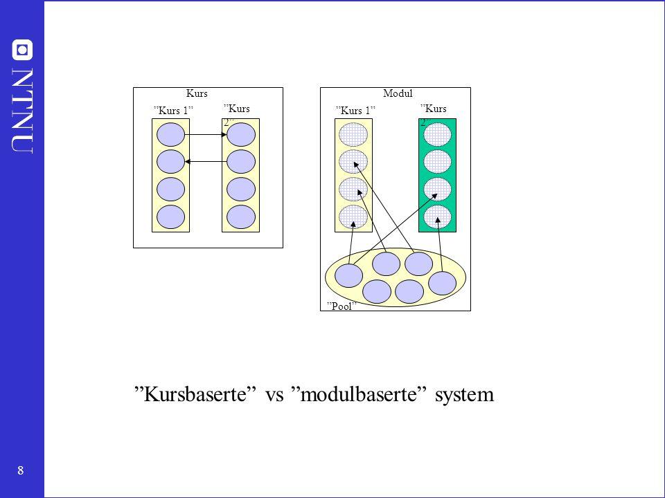Kursbaserte vs modulbaserte system