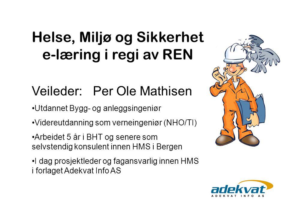Veileder: Per Ole Mathisen