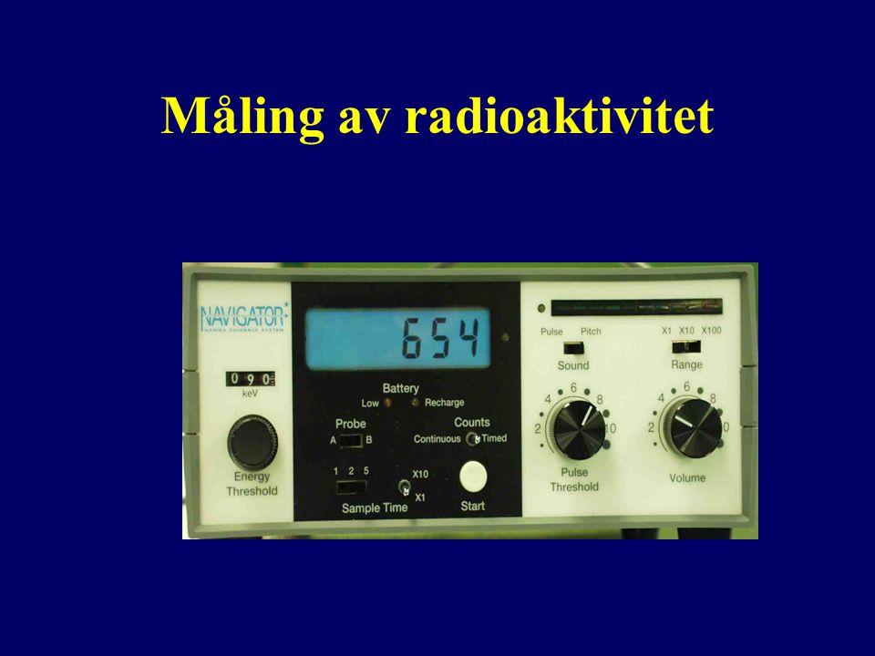 Måling av radioaktivitet
