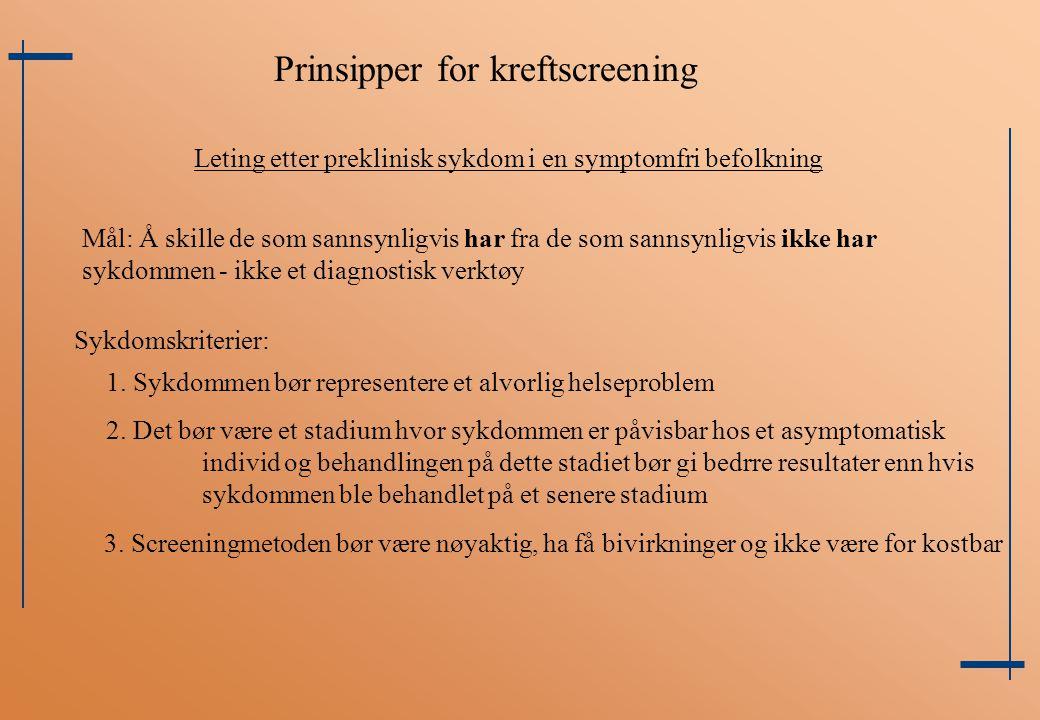 Prinsipper for kreftscreening