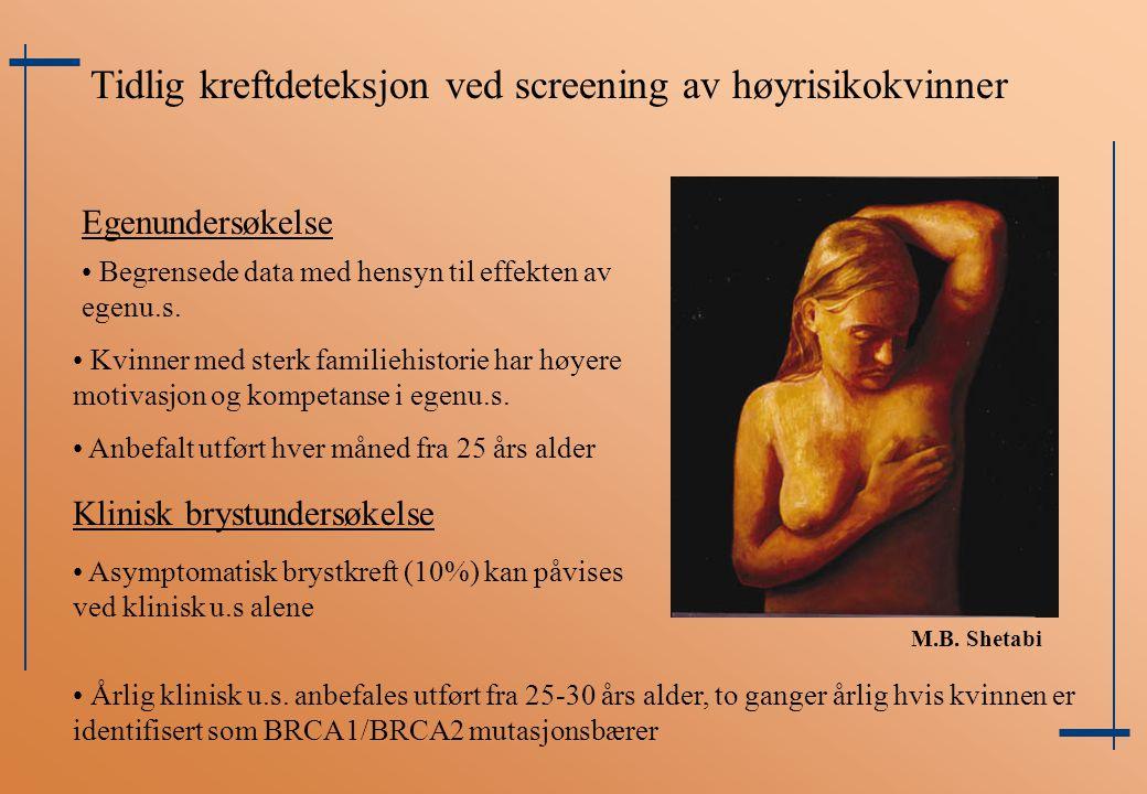 Tidlig kreftdeteksjon ved screening av høyrisikokvinner