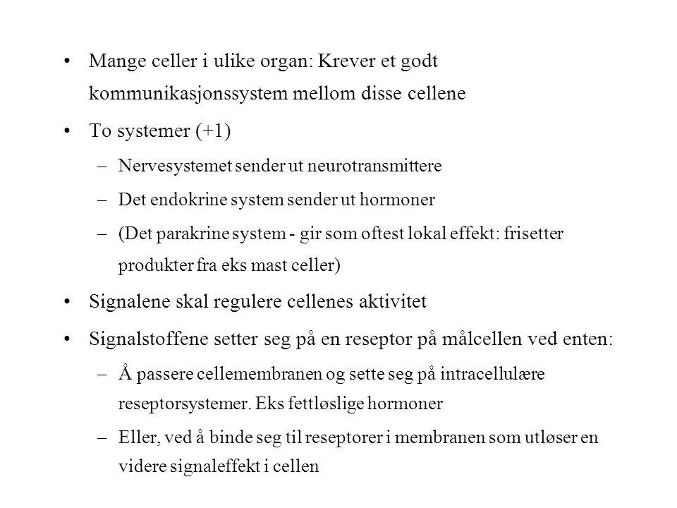 Signalene skal regulere cellenes aktivitet