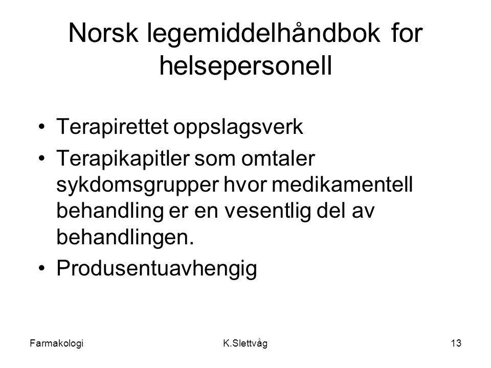 Norsk legemiddelhåndbok for helsepersonell