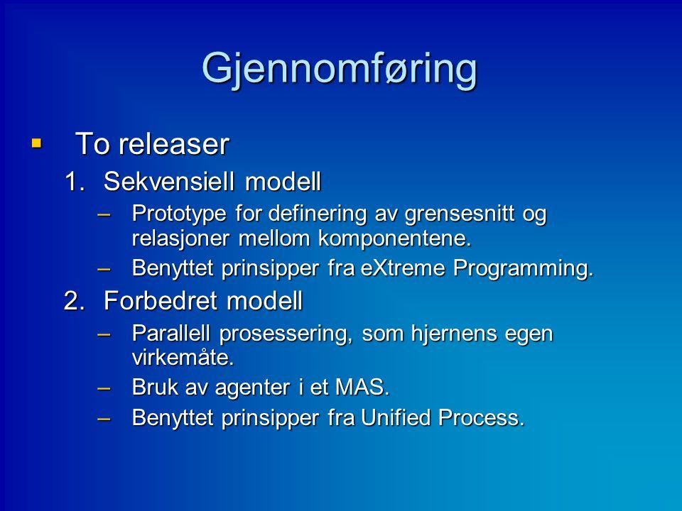 Gjennomføring To releaser Sekvensiell modell Forbedret modell