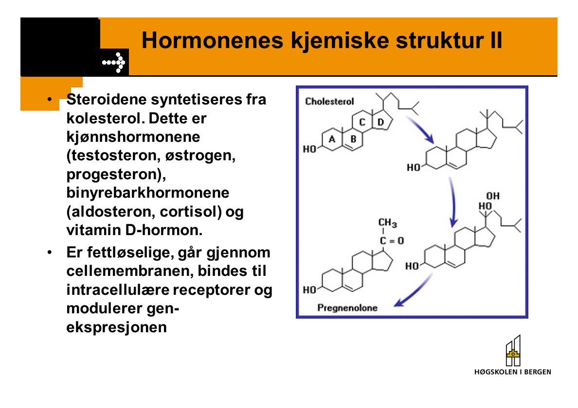 Hormonenes kjemiske struktur II