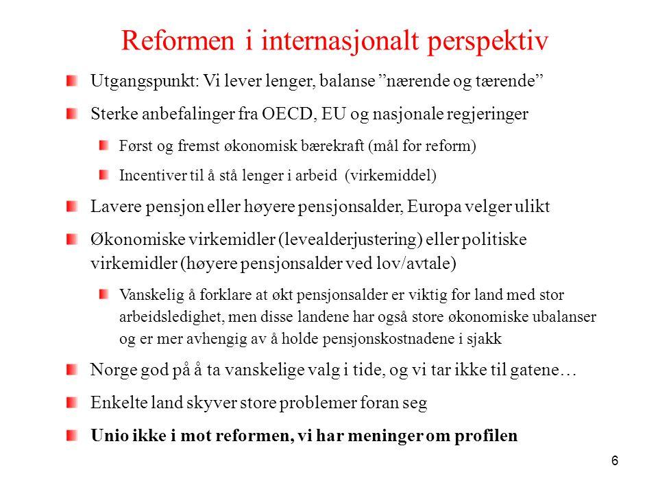 Reformen i internasjonalt perspektiv