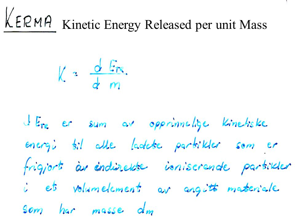 Kinetic Energy Released per unit Mass