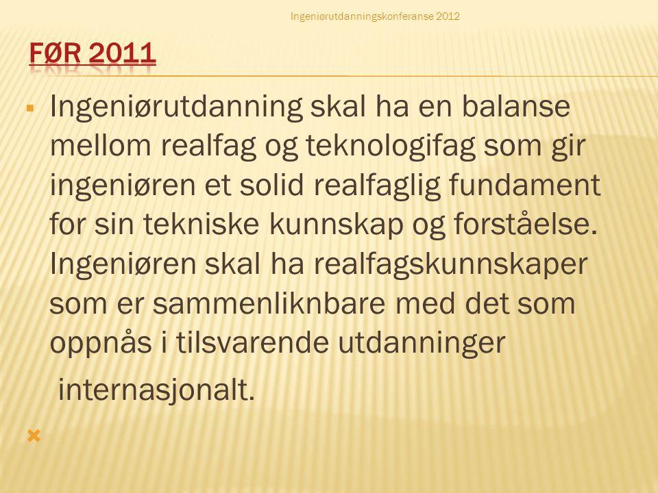 Ingeniørutdanningskonferanse 2012