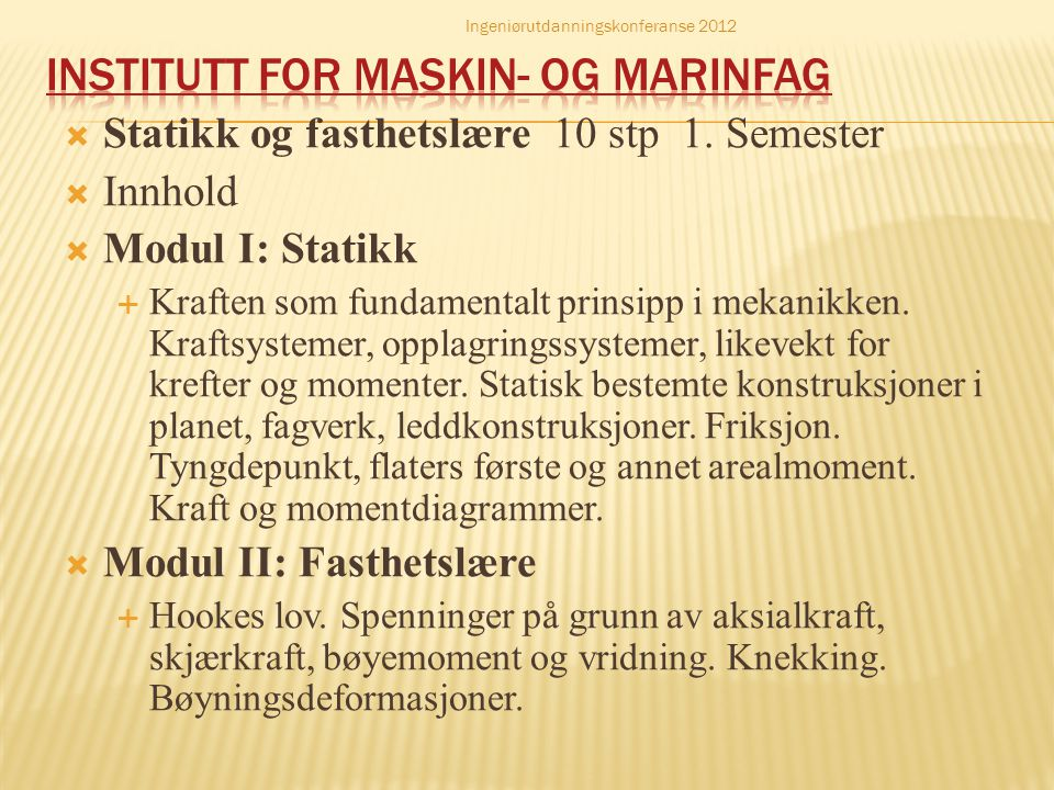 Institutt for maskin- og marinfag