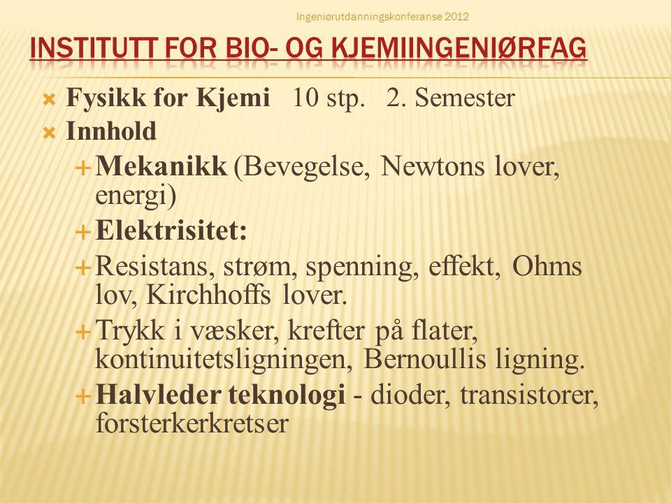 Institutt for bio- og kjemiingeniørfag