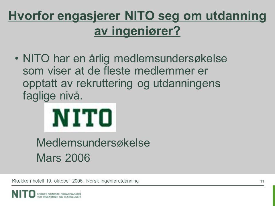 Hvorfor engasjerer NITO seg om utdanning av ingeniører