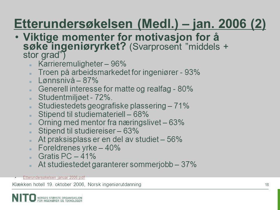 Etterundersøkelsen (Medl.) – jan. 2006 (2)