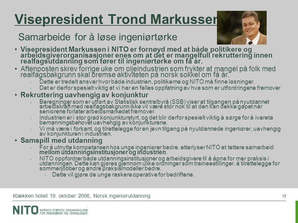 Visepresident Trond Markussen: Samarbeide for å løse ingeniørtørke