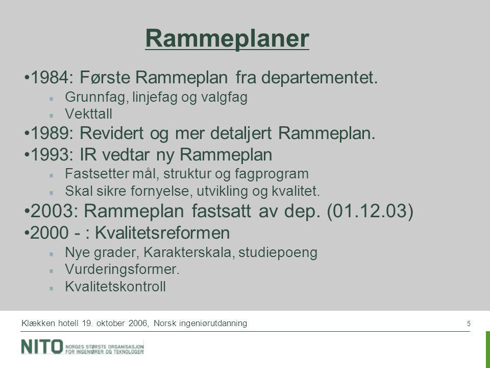 Rammeplaner 2003: Rammeplan fastsatt av dep. (01.12.03)