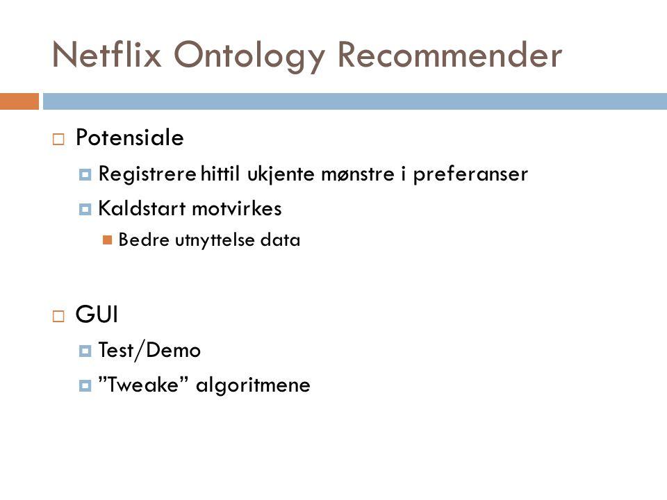 Netflix Ontology Recommender