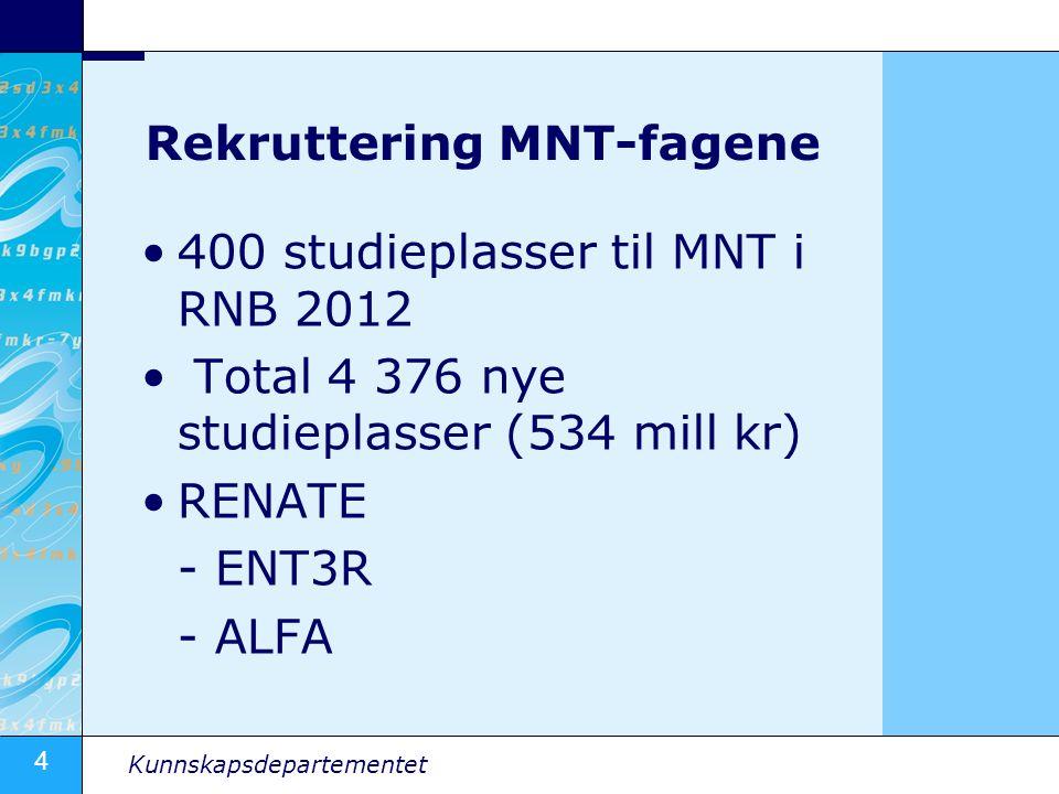 Rekruttering MNT-fagene