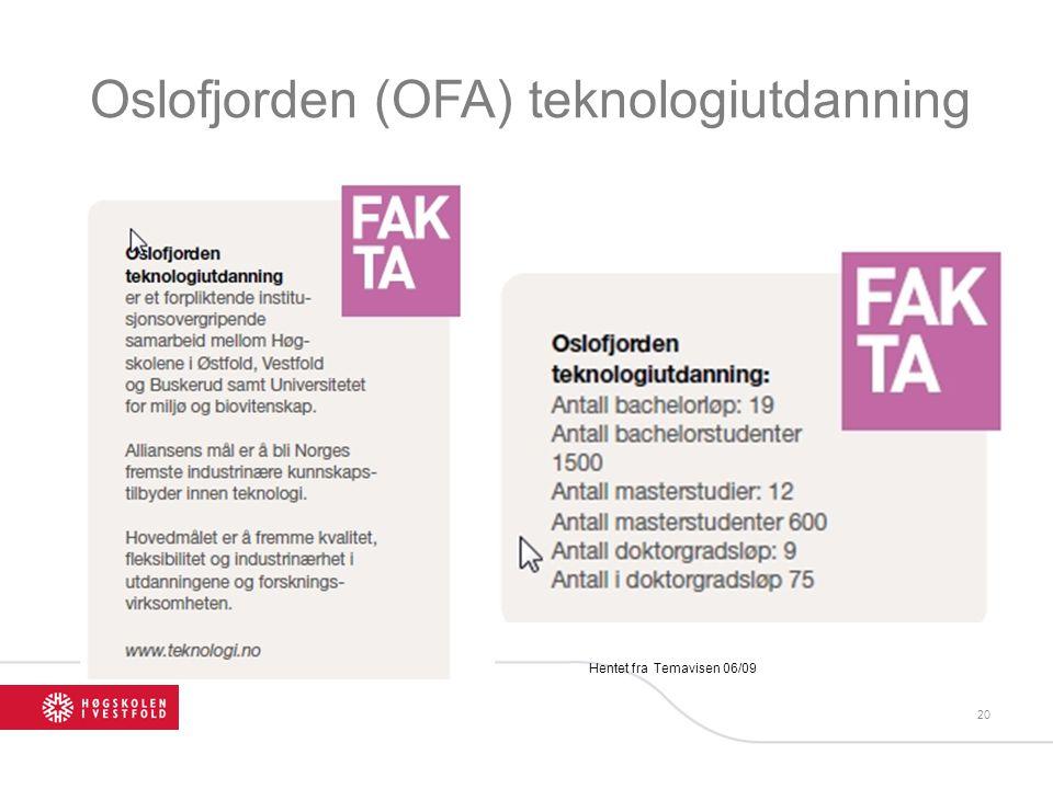 Oslofjorden (OFA) teknologiutdanning