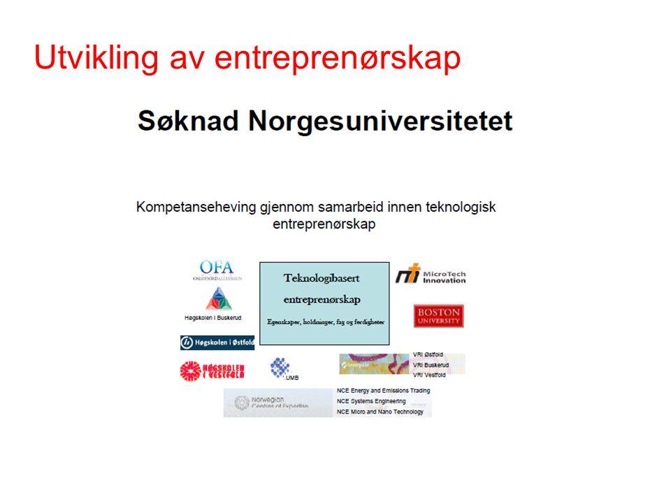 Utvikling av entreprenørskap