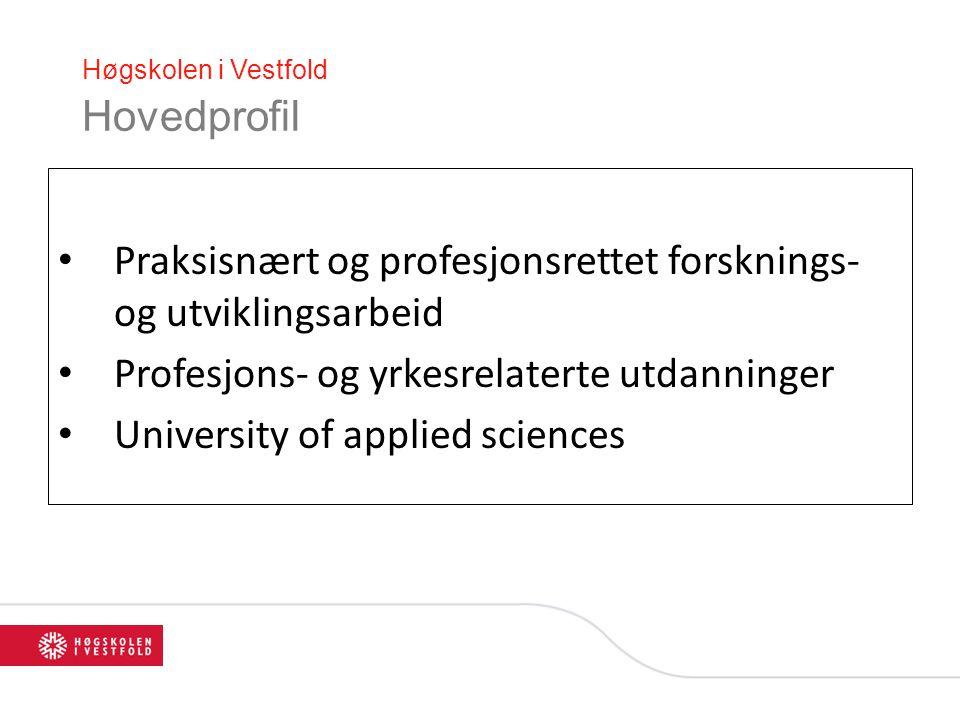 Høgskolen i Vestfold Hovedprofil