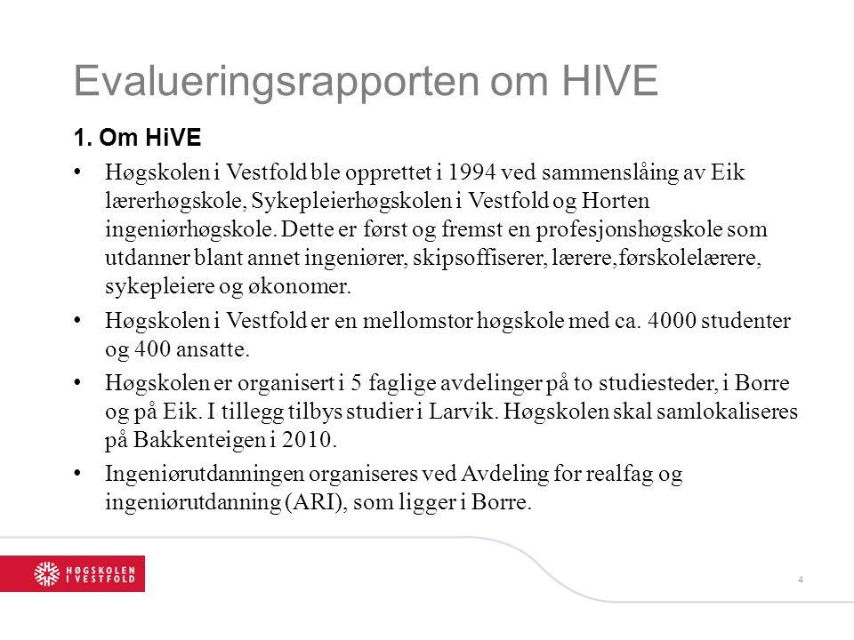 Evalueringsrapporten om HIVE