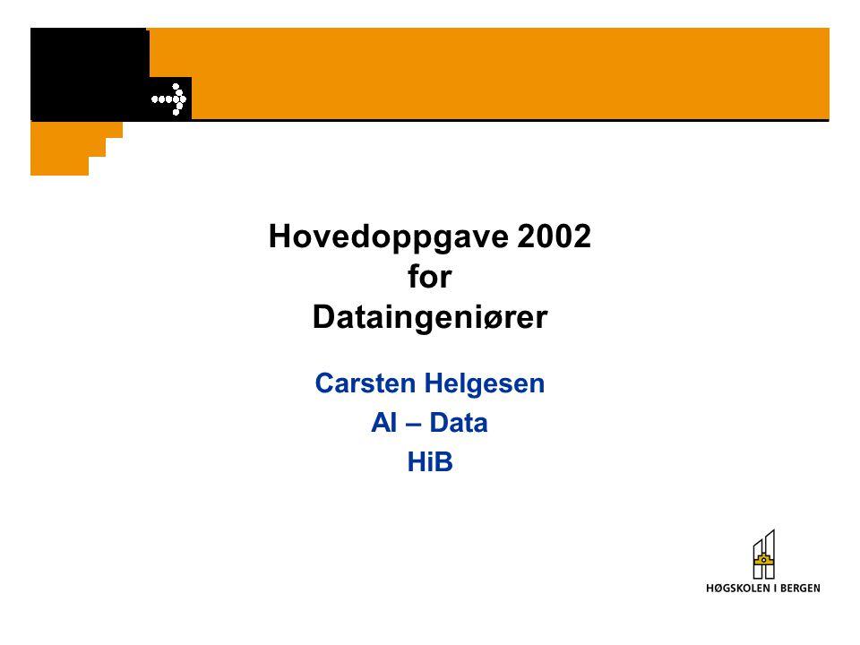 Hovedoppgave 2002 for Dataingeniører