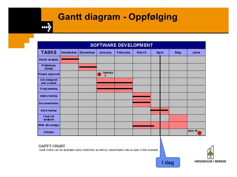 Gantt diagram - Oppfølging