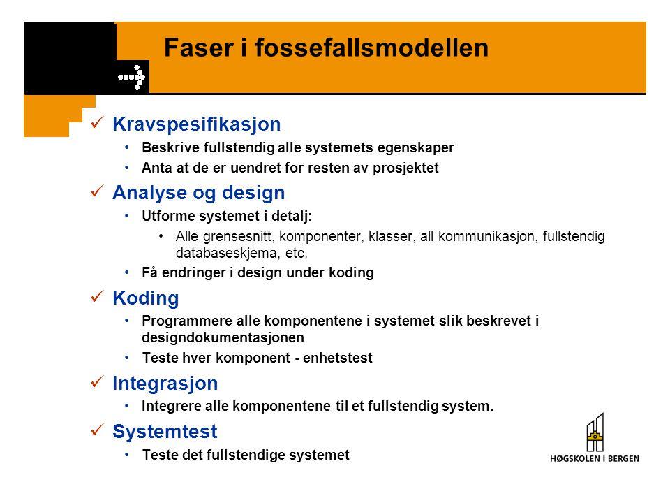 Faser i fossefallsmodellen