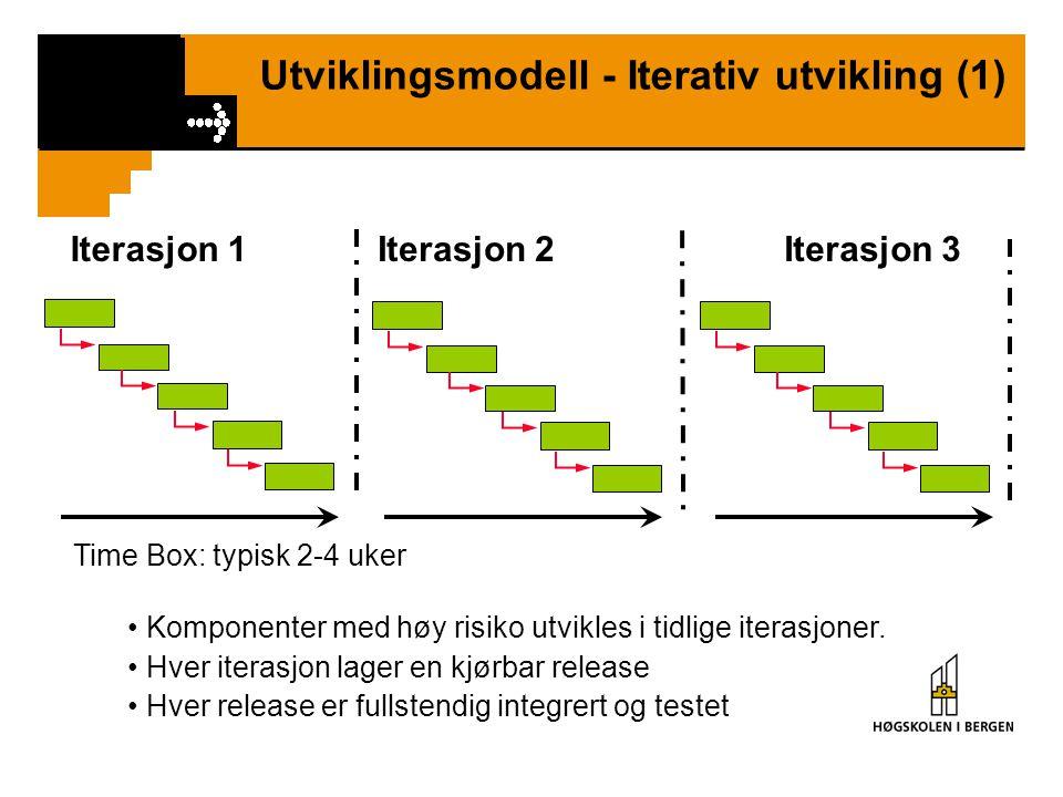 Utviklingsmodell - Iterativ utvikling (1)