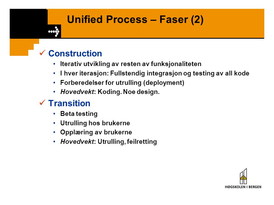 Unified Process – Faser (2)