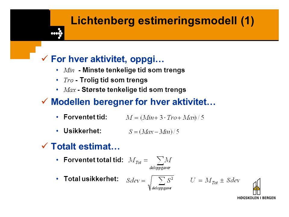 Lichtenberg estimeringsmodell (1)
