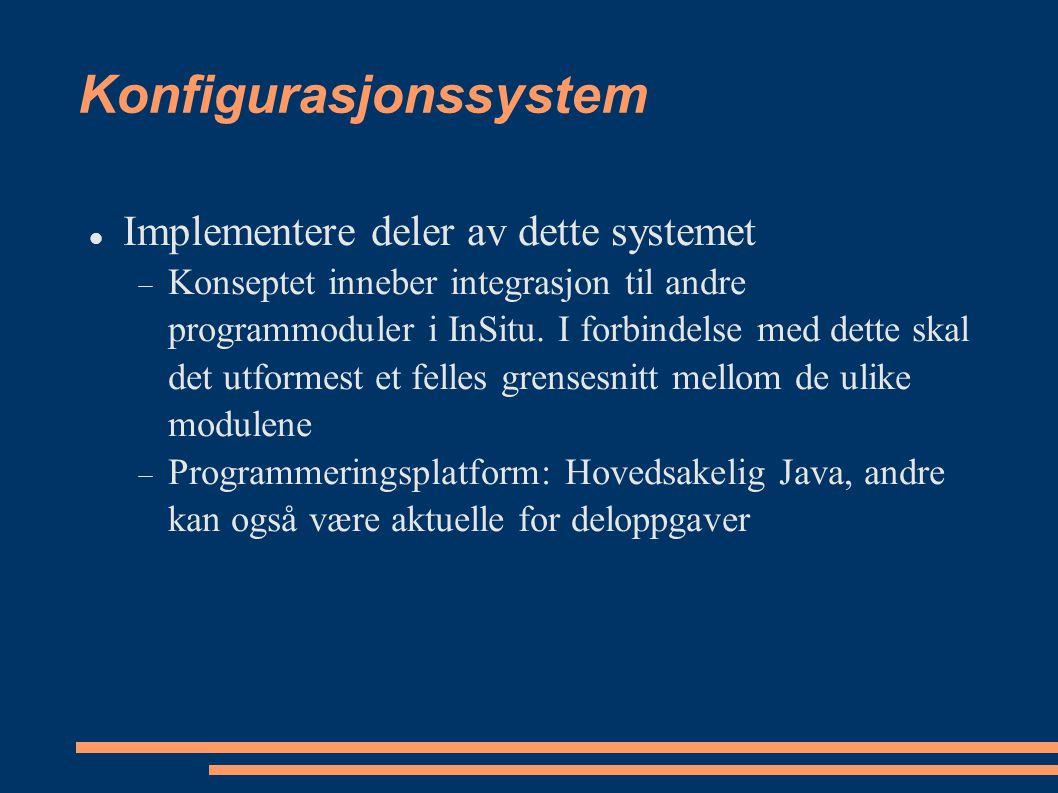 Konfigurasjonssystem