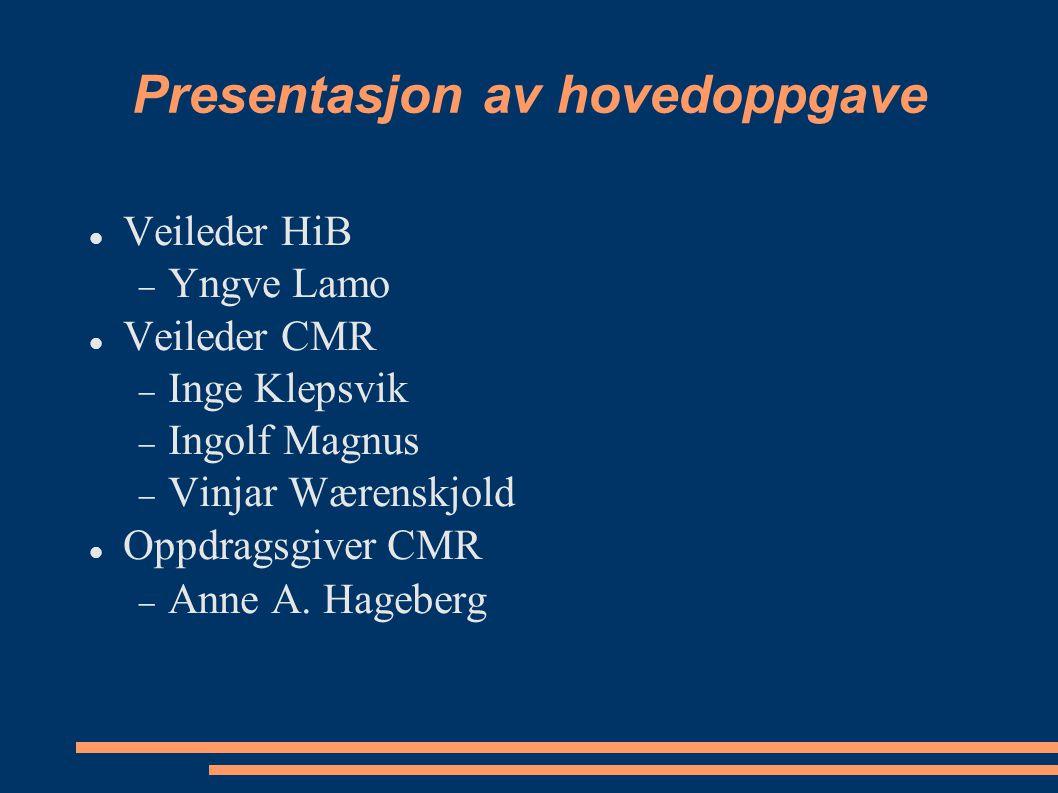 Presentasjon av hovedoppgave