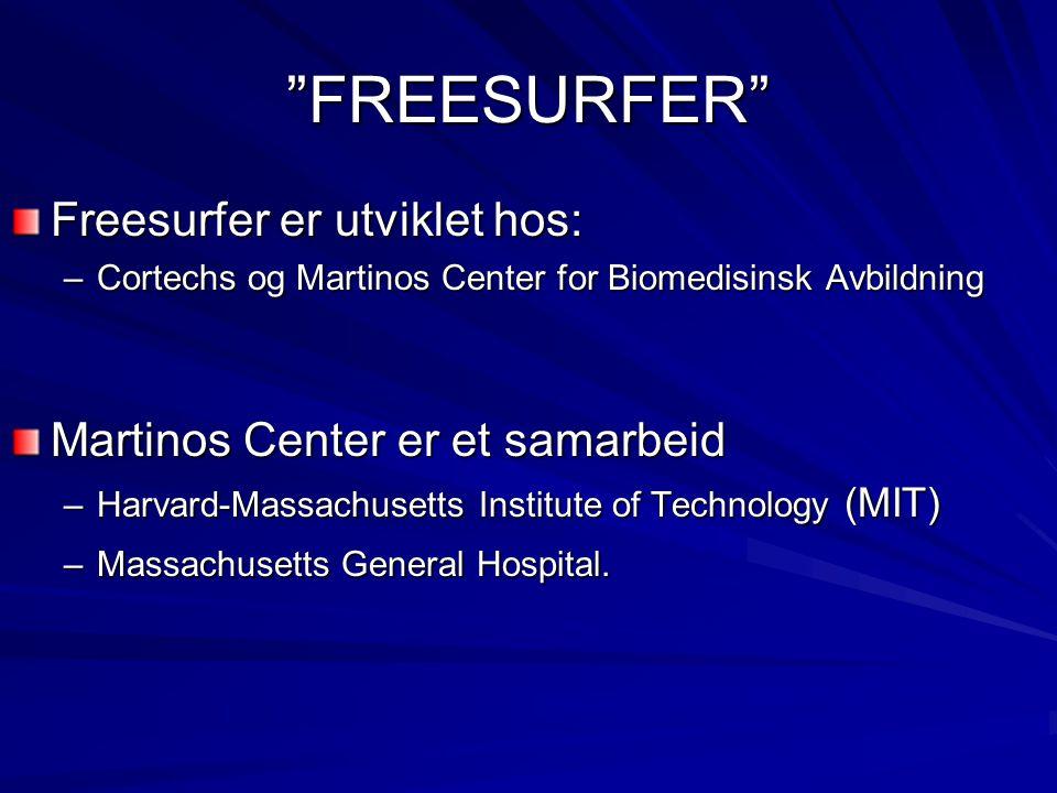 FREESURFER Freesurfer er utviklet hos: