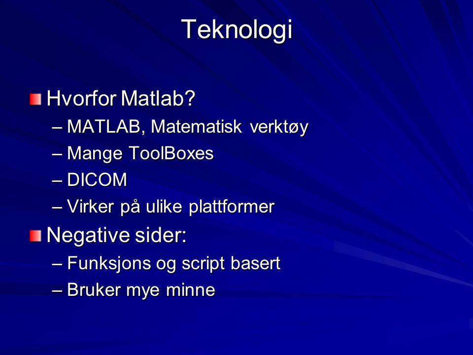 Teknologi Hvorfor Matlab Negative sider: MATLAB, Matematisk verktøy