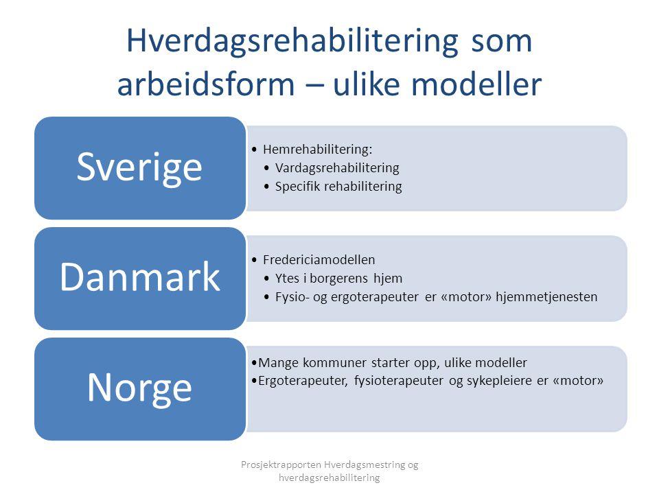 Hverdagsrehabilitering som arbeidsform – ulike modeller