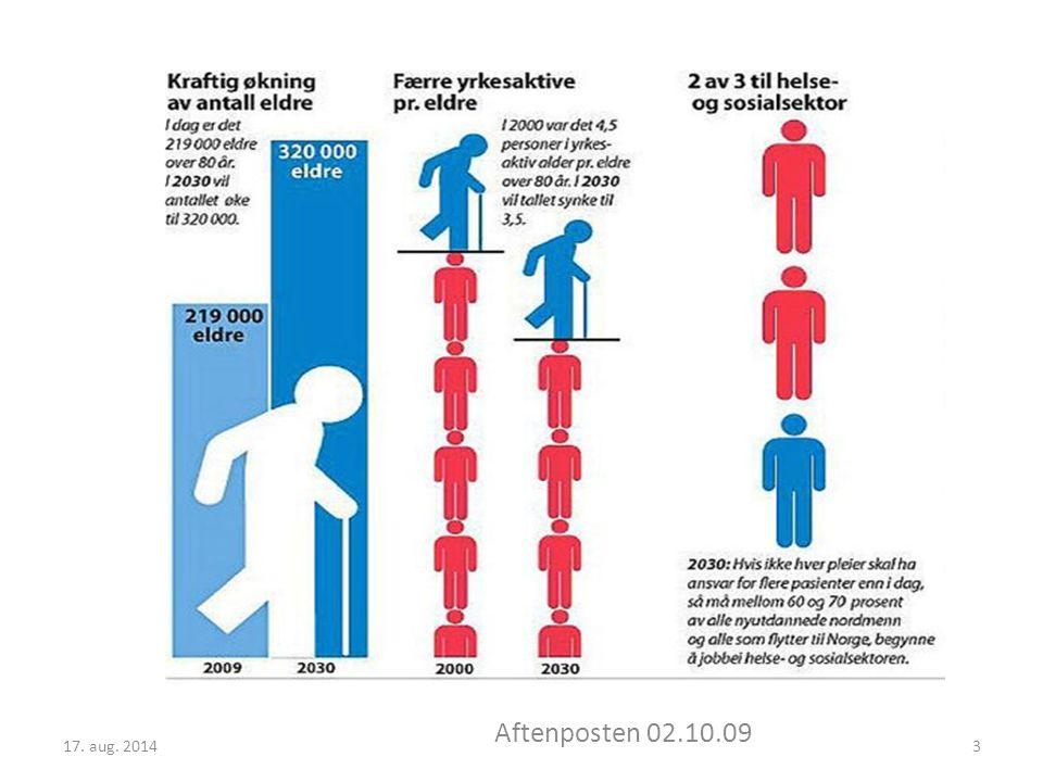Fram mot 2050 vil Norge få en betydelig økning av antall eldre