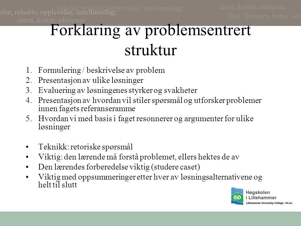 Forklaring av problemsentrert struktur