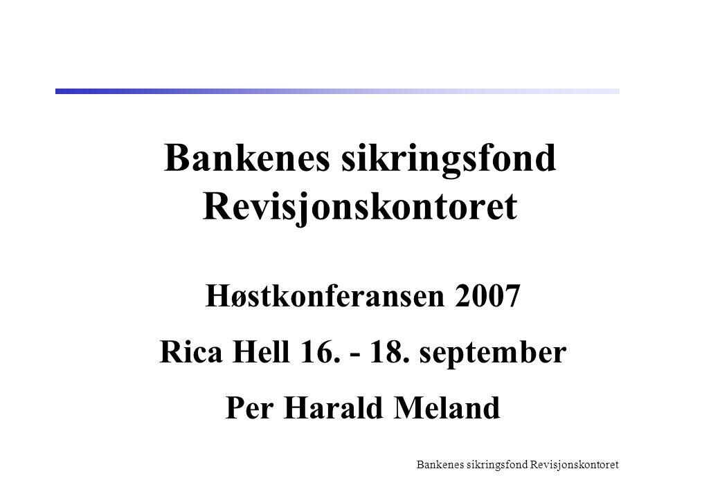 Bankenes sikringsfond Revisjonskontoret