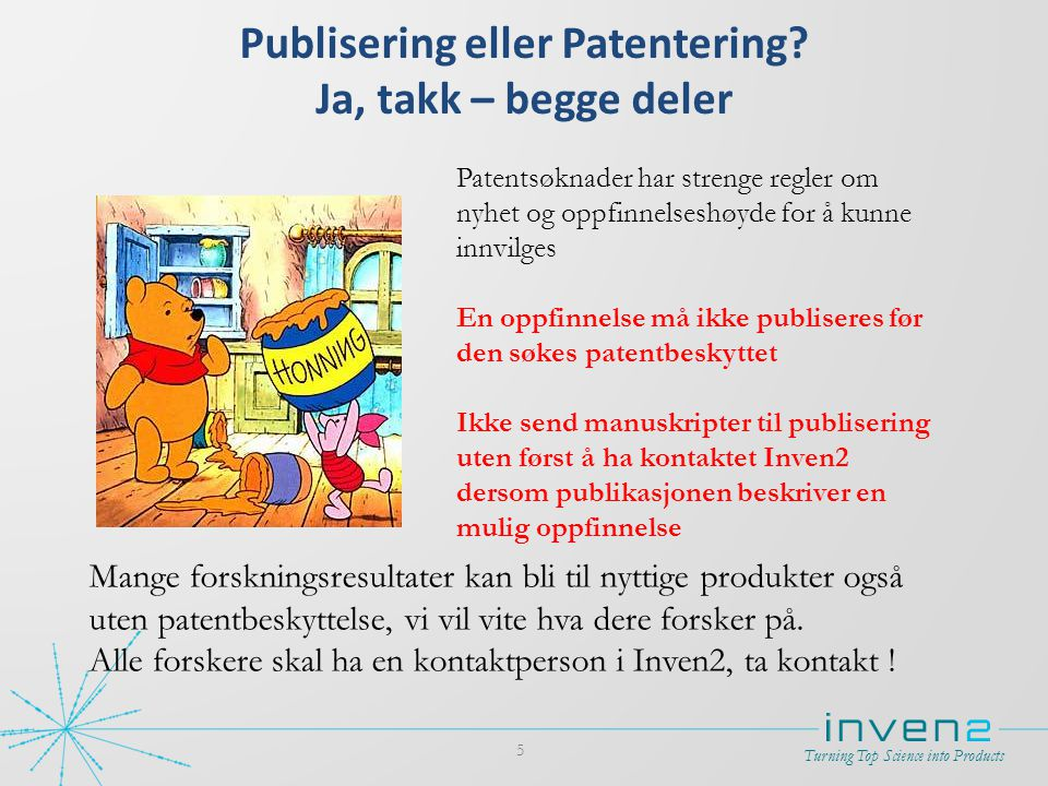 Publisering eller Patentering