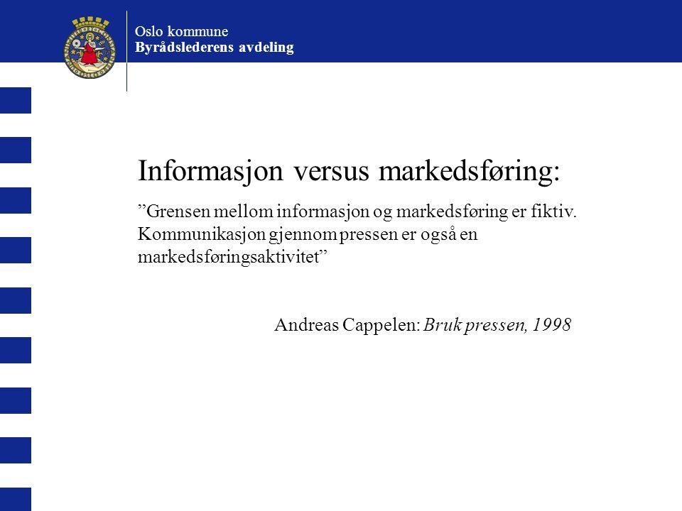 Informasjon versus markedsføring:
