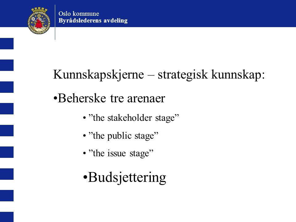 Budsjettering Kunnskapskjerne – strategisk kunnskap: