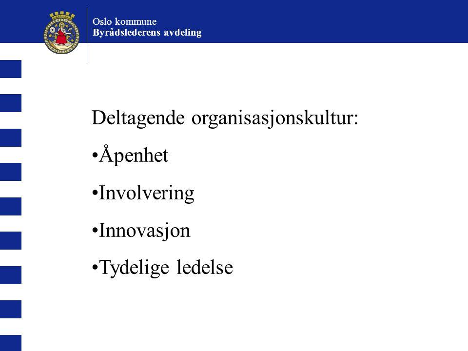 Deltagende organisasjonskultur: Åpenhet Involvering Innovasjon