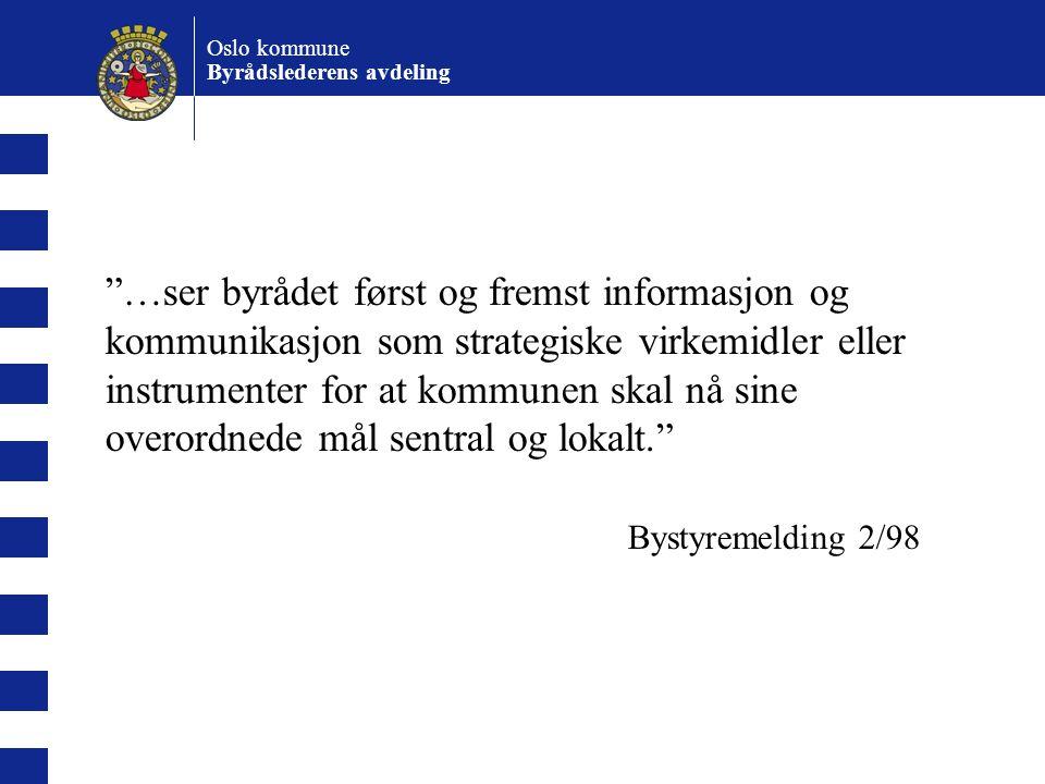 Oslo kommune Byrådslederens avdeling.