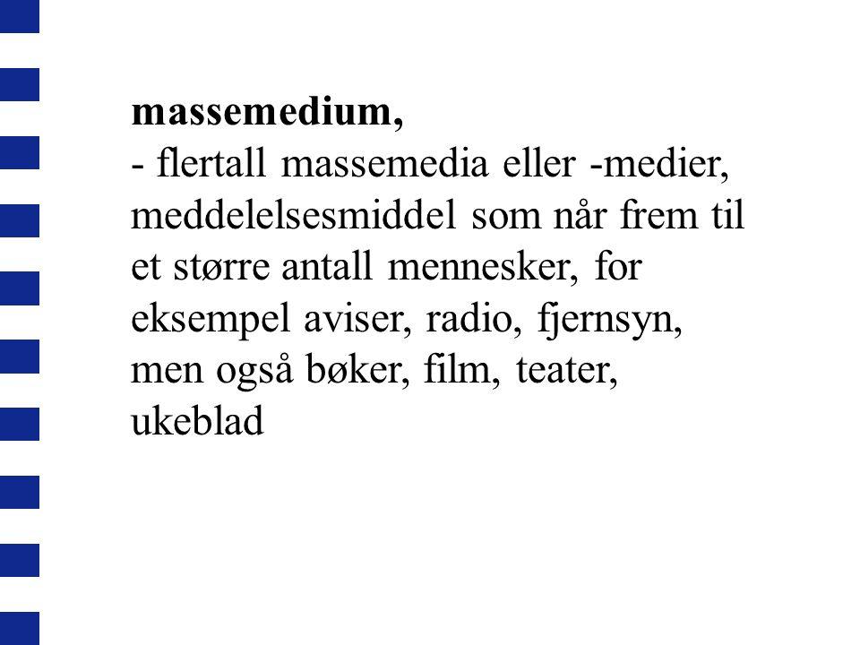 massemedium,