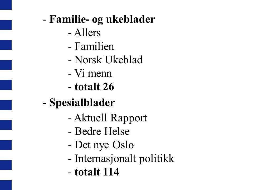 - Familie- og ukeblader - Allers - Familien - Norsk Ukeblad - Vi menn