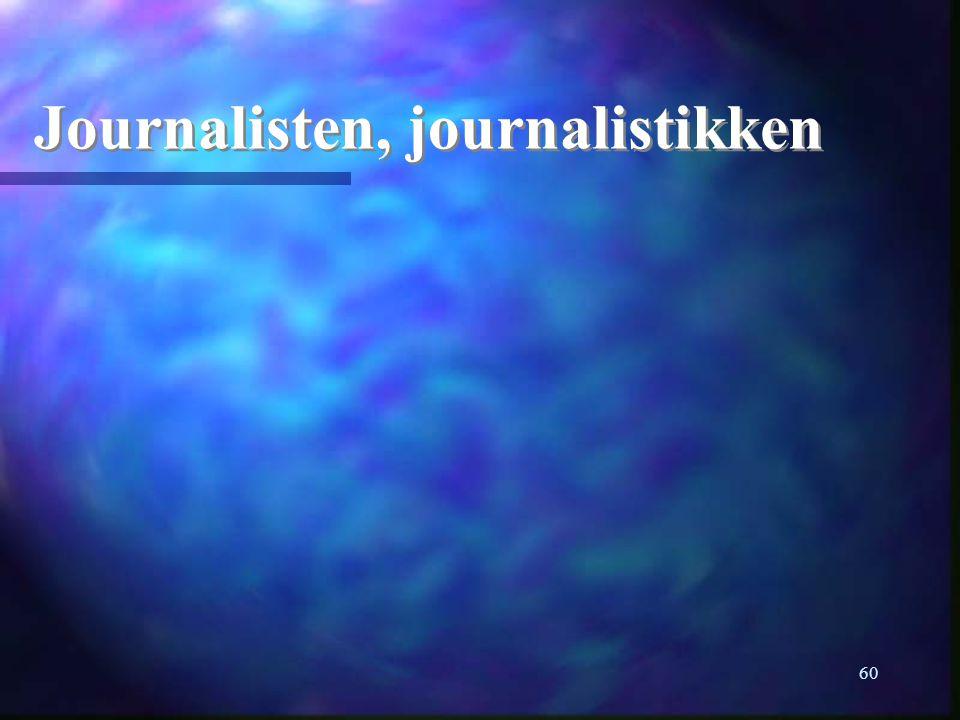 Journalisten, journalistikken